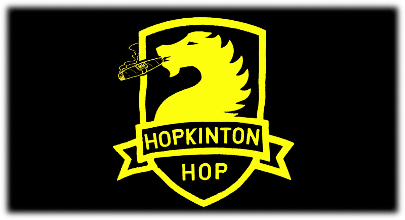 Horse smoking a cigar (the crest for 'The Hop')