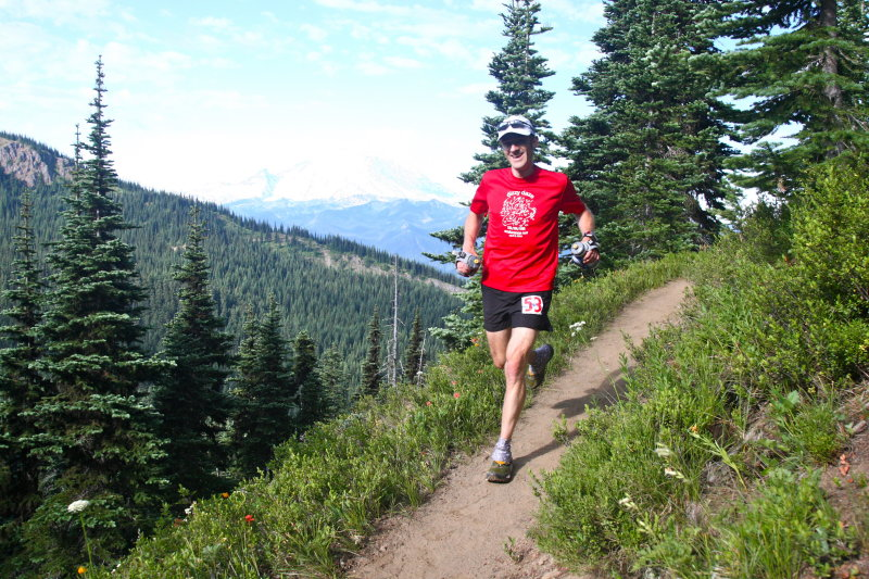 Matt on trail to Corrall Pass
